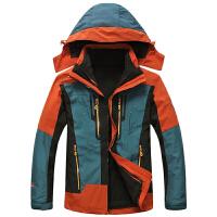 15c225冬装新款豹迹男士内胆可脱卸二件套冲锋衣外套 防寒保暖