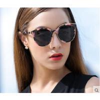 炫彩圆框精美花纹韩国个性眼镜女士偏光太阳镜彩色复古墨镜