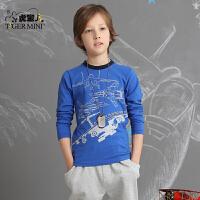 男童T恤长袖棉质 儿童卡通体恤中大童休闲秋装打底衫小虎宝儿童装