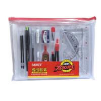 宝克KS001/KS002考试套装 绘图套尺 圆规 橡皮 中性笔 涂卡2B铅笔 笔芯