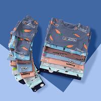 【专区99选3叠加优惠券】歌歌宝贝家居服儿童内衣套装睡衣睡裤长袖套装莱卡棉儿童内衣套装
