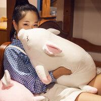 猪公仔玩偶睡觉抱枕 趴趴猪毛绒玩具娃娃大暖手抱枕插手捂女生冬季