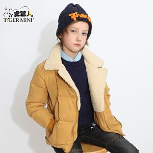 男童装加绒加厚棉衣儿童棉袄小中大童短款外套棉服2017冬装中大童