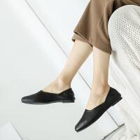 莫戈里单鞋女特大码女鞋41-43平底特大号胖脚宽肥奶奶鞋孕妇豆豆鞋40