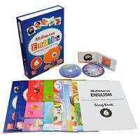 【抢300减100】Midisaurus English 6 米迪英语学生包 7册附字卡+2CD+5教学海报+音乐书