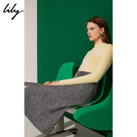 【开学季到手价:169元】 Lily春新款女装商务通勤修身显瘦打底毛针织衫118430B8769