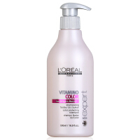 L'OREAL欧莱雅 染后护色洗发水洗发露500ml 专业洗护 护色洗发液 固色护色顺滑发丝纤维