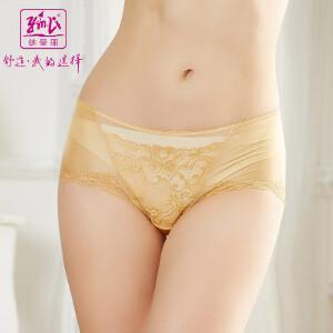 依曼丽   配套内裤 女士性感高雅舒适刺绣中腰平脚裤5801