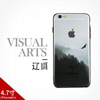 iPhone6s plus中国风简约山水墨画手机壳苹果文艺保护套