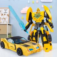 变形玩具金刚5大黄蜂汽车机器人模型合金正版手办儿童男孩 生日礼物六一圣诞节新年礼品