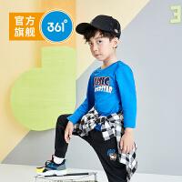 361度童装 男小童儿童套头卫衣2021春季新小童长袖圆领套头衫 N52014201