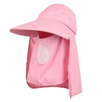 户外夏季防晒帽骑车帽骑行帽太阳帽女士护脸护脖遮阳帽子