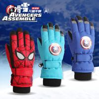 儿童滑雪手套冬防水男孩蜘蛛侠保暖防滑宝宝户外玩雪学生骑车手套