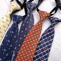 短款小领带学生配饰女衬衣卡通图案儿童领带免打结