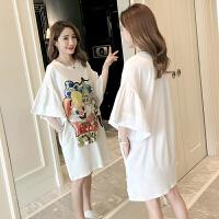 2019新款韩版时尚短袖上衣孕妇夏天裙子怀孕期孕妇夏装连衣裙