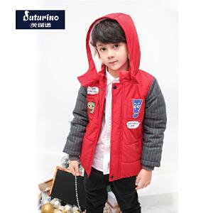 【3件3折到手价:119.7】芙瑞诺童装男童冬季新品棉服夹克连帽