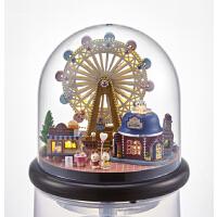 音乐盒天空之城diy八音盒送创意生日礼物女生旋转摩天轮新年礼品