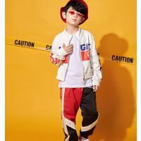 儿童街舞套装男嘻哈潮秋冬装少儿hiphop街舞服装演出衣服
