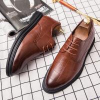 皮鞋男夏季新品商务休闲正装皮鞋英伦风擦色雅痞皮鞋中青年男士品质潮鞋绅士