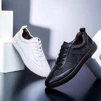新款休闲鞋男小白鞋男冬季韩版时尚潮流百搭休闲低帮皮面板鞋男鞋