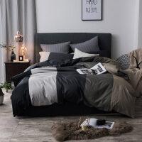北欧床上用品四件套网红款全棉被子被单纯棉床单被套宿舍三件套男