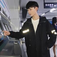 韩版潮流冬季中长款风衣男日系宽松大码披风个性帅气青年男士外套