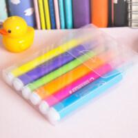 广博升级荧光笔 彩色标记笔 阅读记号笔 学生办公用品6支盒装文具