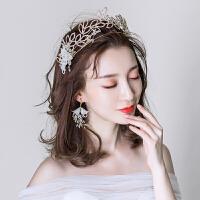 新娘发箍头饰森系发饰耳环套装结婚仙美饰品婚纱礼服配饰