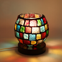 盐灯 创意礼品可调光欧式客厅卧室台灯 送女友闺蜜生日礼物女 春节礼物