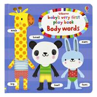 Usborne Baby's Very First Body Words 第一本身体单词书 儿童英语书籍 英文原版图书