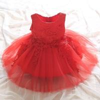 儿童装7女童连衣裙夏装5中大童女装6夏天10女孩12短袖公主裙子9岁 红色 无袖须须连衣裙