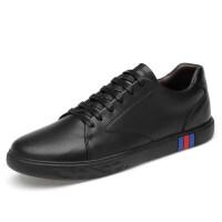 品牌大码男鞋45 46男韩版亮面时尚简约个性潮鞋休闲皮鞋男板鞋