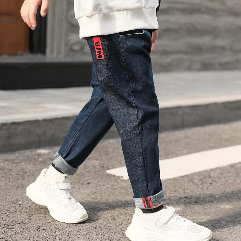 男童牛仔裤秋冬装儿童长裤冬季中大童男孩裤子潮