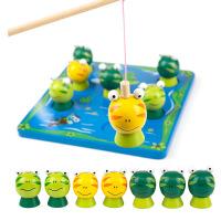 正品木制玩具 益智幼儿钓鱼类玩具 可爱钓青蛙游戏亲子玩具