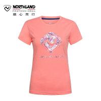 【过年不打烊】诺诗兰春夏女士T恤户外圆领休闲运动短袖GL962021