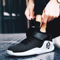 Q-AND/奇安达男士运动鞋中高帮网面透气男鞋增高休闲旅游鞋防滑篮球鞋