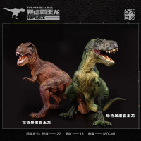 出口塑胶仿真动物恐龙模型蹲姿霸王龙暴龙侏罗纪实心恐龙玩具套装