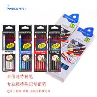 马可MARCO多用途铅笔特种铅笔纸卷笔可写玻璃瓷砖金属4700-12CB 专业级特殊记号铅笔