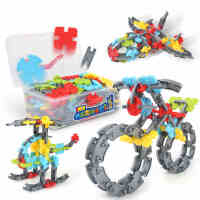 勾勾手 百变拼插积木1-2-3-6周岁拼装建构片早教启蒙益智儿童玩具