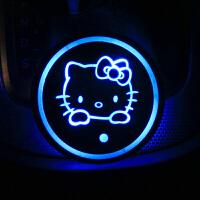 福特水杯垫七彩发光新蒙迪欧锐界翼虎金牛座改装车载氛围灯LED kiti猫 单只价