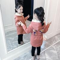 女童棉衣冬装外套儿童中长款棉袄