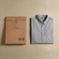 №【2019新款】冬天年轻人穿的加绒纯棉牛津纺衬衫男士灰色长袖修身休闲白衬衣纯色寸衫