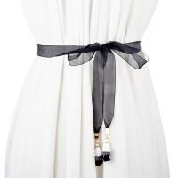 夏季新款女士细腰带薄款装饰连衣裙带衬衫配带甜美打结腰链女腰绳