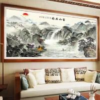 客厅大幅富山居图钻石画满钻办公室字画十字绣风景点钻粘贴砖石绣