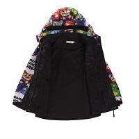 男童外套秋冬装儿童户外三合一冲锋衣中大童可拆卸两件套