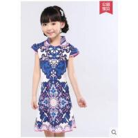新款中国风女童唐装表演服民族风儿童纯棉经典旗袍裙儿童服装支持礼品卡支付