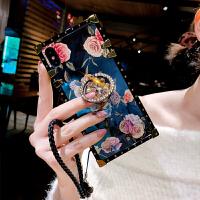 ins超火的复古玫瑰花苹果x手机壳新款iPhone xsmax防摔软套8plus欧美气质女款7p水钻