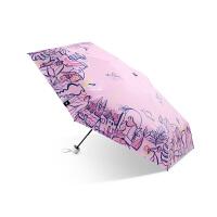 蕉下口金袋系列五折伞防晒伞女便携小巧防紫外线黑胶遮太阳伞