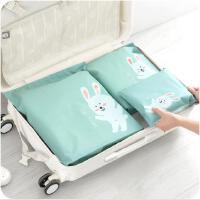 旅行分类衣物内衣整理收纳袋 自封口可爱卡通塑料防水旅游收纳袋