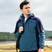 探拓TECTOP男女夹克户外三合一情侣款冲锋衣速干夹克旅行运动夹克遮风挡雨保暖外套